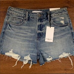 "CJLA ""Marilyn"" High Rise Vintage Shorts,Light Wash"